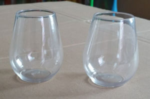 Super Crystal Plastic Stemless Wine Glass pictures & photos