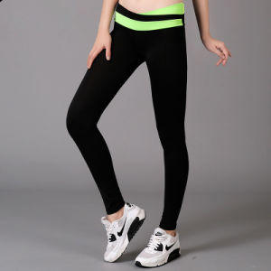 Yoga Compression Sports Pants Running Trousers for Women Sports Wear (AK820150008) pictures & photos