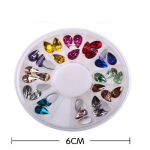 12 Colors Drop Crystal Stone Nail Decoration for DIY pictures & photos