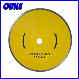 Wet Cutting Diamond Continous Rim Saw Blade for Ceramic (300mm) pictures & photos