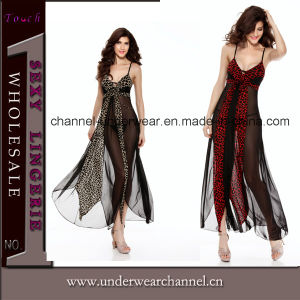 Newest Lady Mesh Long Gown Evening Dress Lingerie (TML8024) pictures & photos