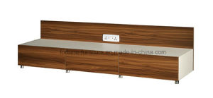 Modern Wooden Walnut & White TV Stand (B201-1.8A)
