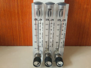Lzm Panel Mounted Acrylic Liquid Flow Meter 0.2-2gpm 1-7 Lpm with Regulating Valve pictures & photos