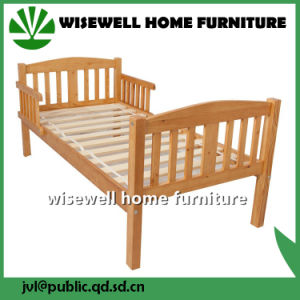 Wooden Single Bed in White Color pictures & photos