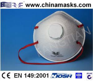 Active Carbon CE Protective Dust Mask Face Mask with Valve pictures & photos