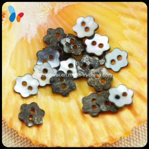 Flower Shape Two Holes Nature Akoya Pearl Shell Button pictures & photos
