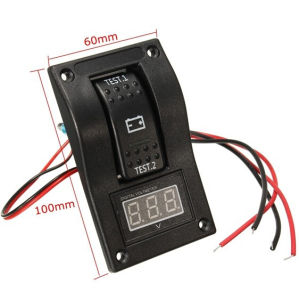 12-24V LED Dual Battery Test Panel Rocker Switch Car Truck Marine Boat Voltmeter 4p on-off-on pictures & photos