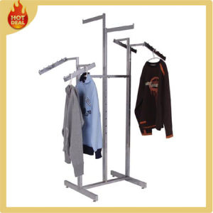 Fashion Boutique Shop Metal Hanging Clothes Display Rack pictures & photos