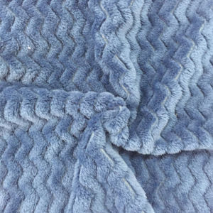 100% Polyester Wave 3 Jacquard Flannel Fleece pictures & photos