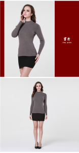 Ladies′ Cashmere/Yak Wool Round Neck Pullover Sweater/Garment/Clothing/Knitwear pictures & photos