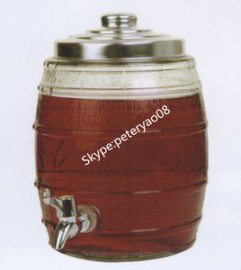 8L Glass Beverage Dispenser with Metal Lid pictures & photos