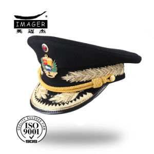 Customized Military Private Cap with Bullion Embroidery pictures & photos