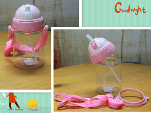 PC/ Tritan Mini Kid Water Bottle with Straw & Lanyard