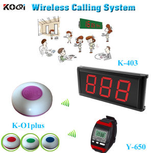 Pager System for Restaurant Wireless Customer Ordering Table Buzzer Transmitter pictures & photos