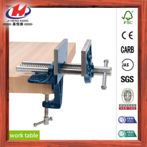 UV Painting Finger Joint Solid Wood Work Table pictures & photos