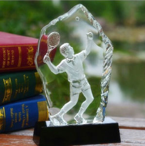 3D Laser Engraving Crystal Iceberg Tennis Trophy pictures & photos