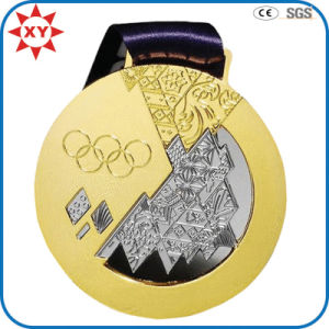 Metal Gold Medal with Ribbon for Honor pictures & photos
