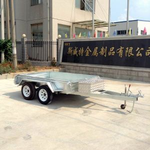 8X5 Dual Axles Box Trailer for Track Trailer (SWT-TT85) pictures & photos