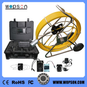 7inch Monitor Flexible Pipeline Sewer Pipe Inspection Camera with 60m Waterproof Fiber Optic Cable pictures & photos