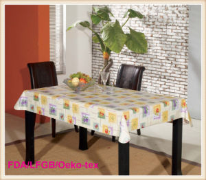 Plastic PVC Waterproof Dining Table Cloth Factory pictures & photos