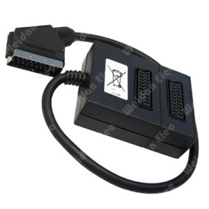 Premium 21pin Scart to 2RCA Scart Cable pictures & photos