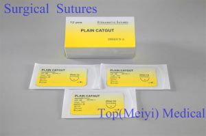 Surgical Suture -- Plain Catgut Surgical Suture with Needle pictures & photos