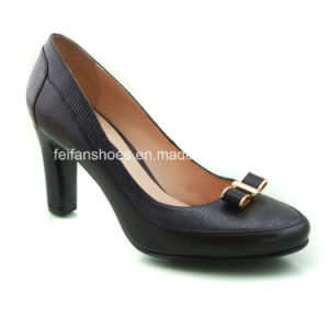 New Style Fashion Women Shoes Chunky Heels High Heels (OLY16311-1) pictures & photos