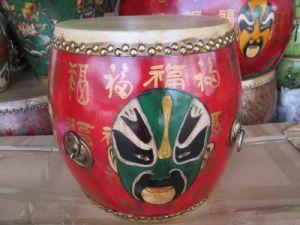 Antique Chinese Drama Opera Mask Drum