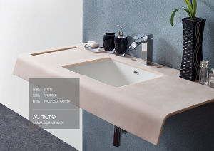 Artificial Stone Basin/Acrylic Wash Sink/Acrylic Solid Surface Bathroom Basin pictures & photos