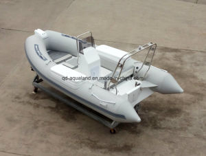 Aqualand 14feet 4.2m Rigid Inflatable Motor Boat/Fishing Boat (RIB420B) pictures & photos