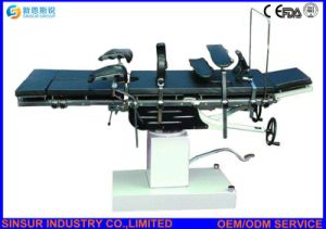 Hospital Surgical Equipment Radiolucent Manual Operating Table pictures & photos