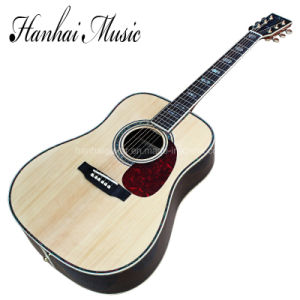 Hanhai Music / 41′′ Acoustic Guitar with Colorful Abalone Binding (D45) pictures & photos