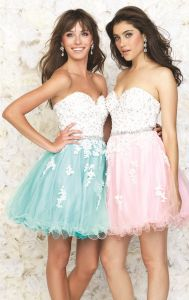 Pink Blue Cocktail Dresses Lace Mini Party Homecoming Evening Dress Z217 pictures & photos