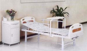 Manual Hospital Bed, Two Cranks with Fixed Bed Legs (XH-B-16) pictures & photos
