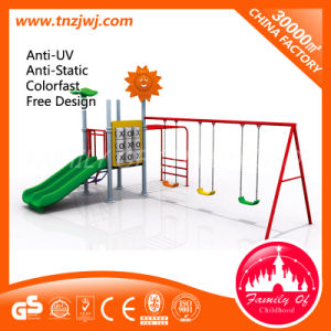 Small Kid Playground Equipment Outdoor Slide and Swing pictures & photos