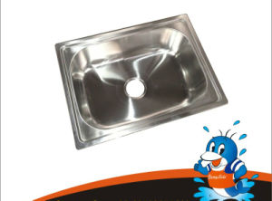 High Quality Stainless Steel Sink with Single Bowl (6044) pictures & photos
