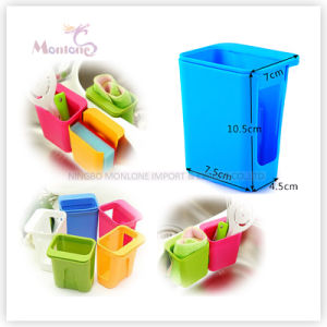 Plastic Kitchen Sink Organize Sink Scouring Pad Holder pictures & photos