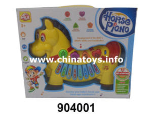Musical Keyboard Instrument Toy, Cartoon Horse Piano Toy (904001) pictures & photos