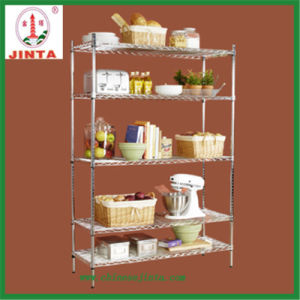 Wheeled Wire Shelf to Display Small Items or Flowers (JT-F10) pictures & photos