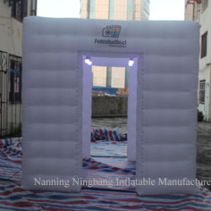Campaign Cube Tent Inflatable Photo Booth with LED Light for Advertisement