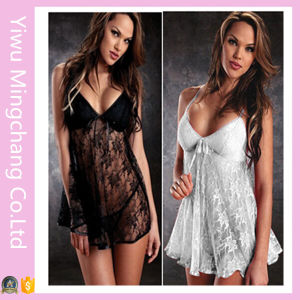Wholesale 6 Colors Sexy Transparent Lace Sleepwear pictures & photos