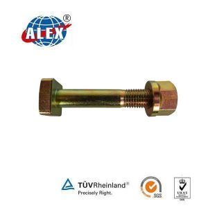 Zinc Plated Square Head Bolt Fishplate