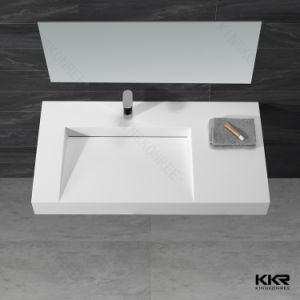 Kingkonree Resin Stone Bathroom Sink Solid Surface Wall Hung Basin pictures & photos