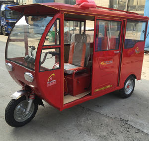 Gas Three Wheel Motorcycle 200cc Passenger Tricycle with Cab (SY200ZK-C) pictures & photos