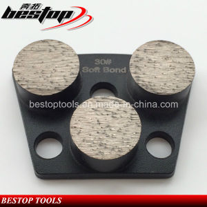 30# Soft Bond Round Shape Segmented Concrete Grinding Shoes pictures & photos