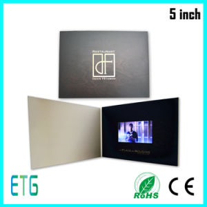 Video Invitation Greeting Card in 5 Inch Digital Display pictures & photos