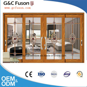 High Quality with Factory Price Aluminum Tempered Glass Sliding Door pictures & photos