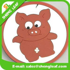 Householder Soft PVC Silicone Coasters in Round Shape (SLF-RC023) pictures & photos