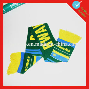 Brand Logo Knit Promotional Football Fan Scarf pictures & photos