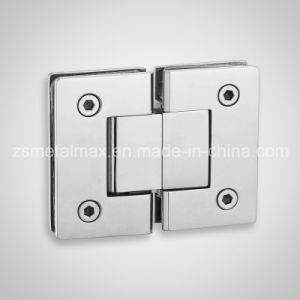 Stainless Steel Brass 180 Degree Glass Clamp Shower Door Hinge (YH211) pictures & photos